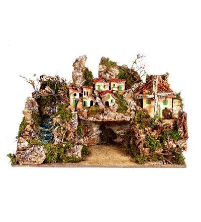 Villaggio con capanna alto cm.50